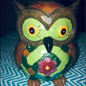"🆕🏠BOGO Wooden painted Owl Decor 5x6"""